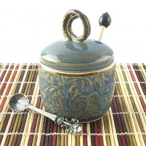 Blue Gold Honeypot Dipper
