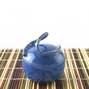 salt pepper shaker sapphire blue