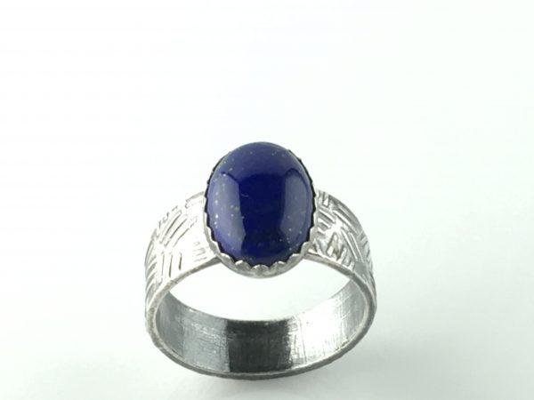 Natural Lapis Lazuli Silver Ring