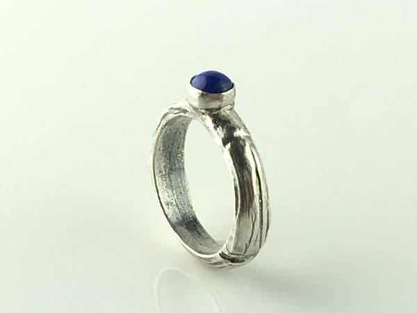 Silver Ring Natural Lapis Lazuli Stone