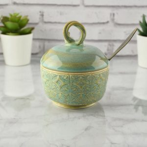 Sugar Bowl with Lid and Spoon