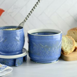 Blue Butter Bell Crock